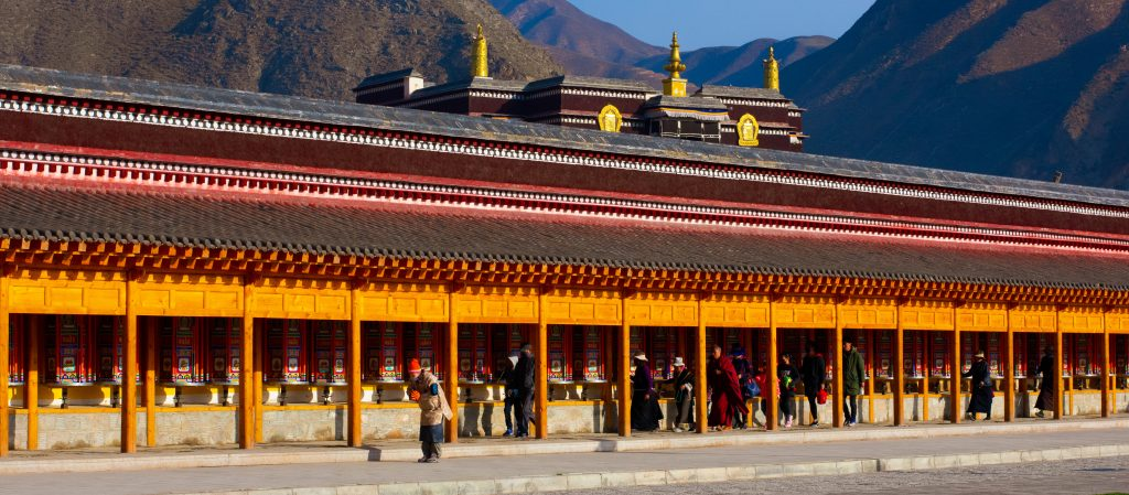 Labrang Monastery prayer wheels