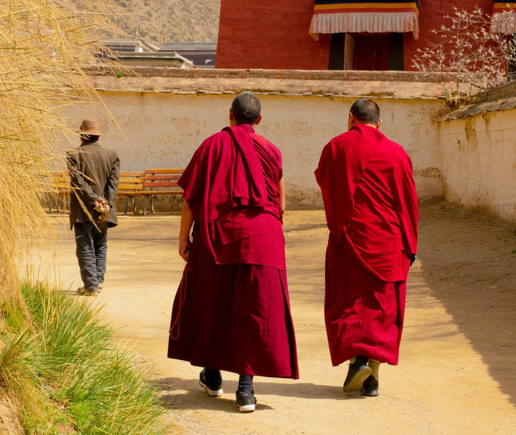 Monks walking the Kora