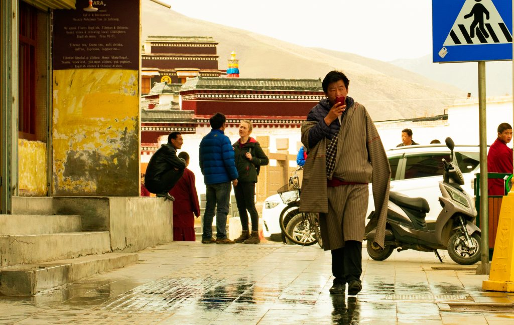 Tibetan man on the streets of Xiahe